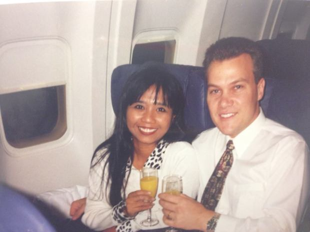 Honeymoon-on our way to Italy October 30, 1995