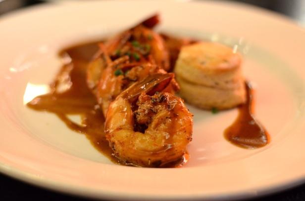 Barbecued shrimp at Emeril's.