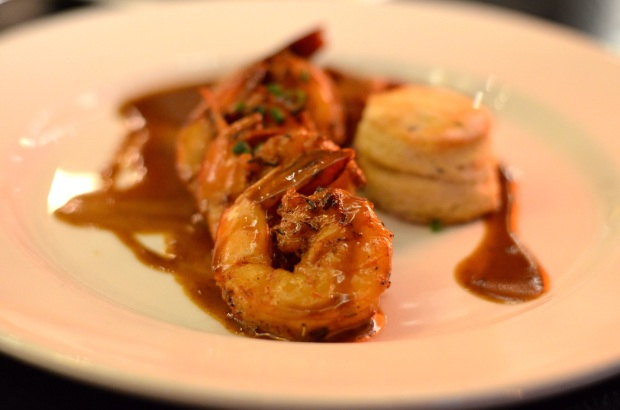Barbecued shrimp at Emeril's.