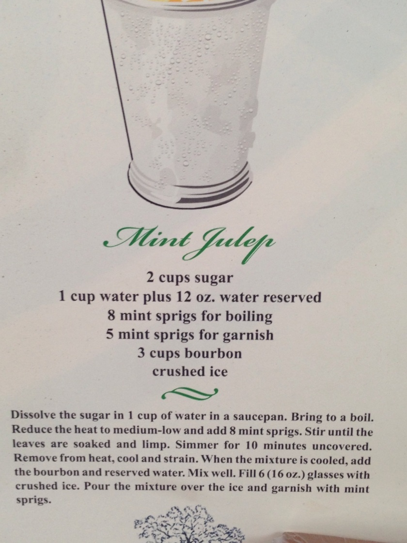 recipe for mint juleps