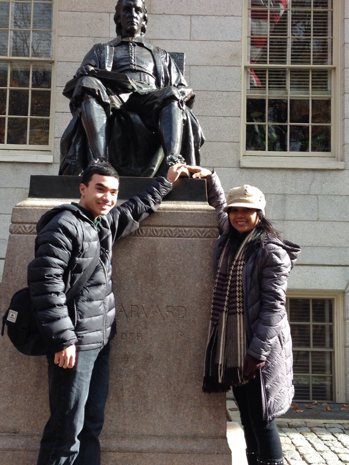 touching John Harvard's shoes for good luck