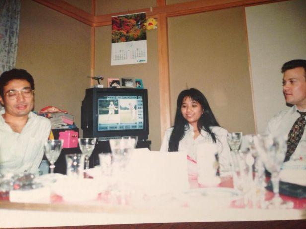 with Sakurai san (left)