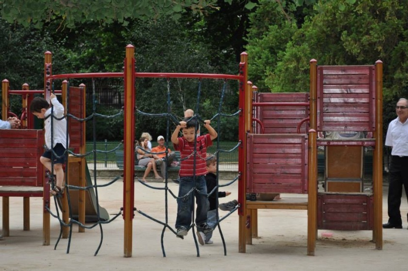 at a park near our hotel in Paris