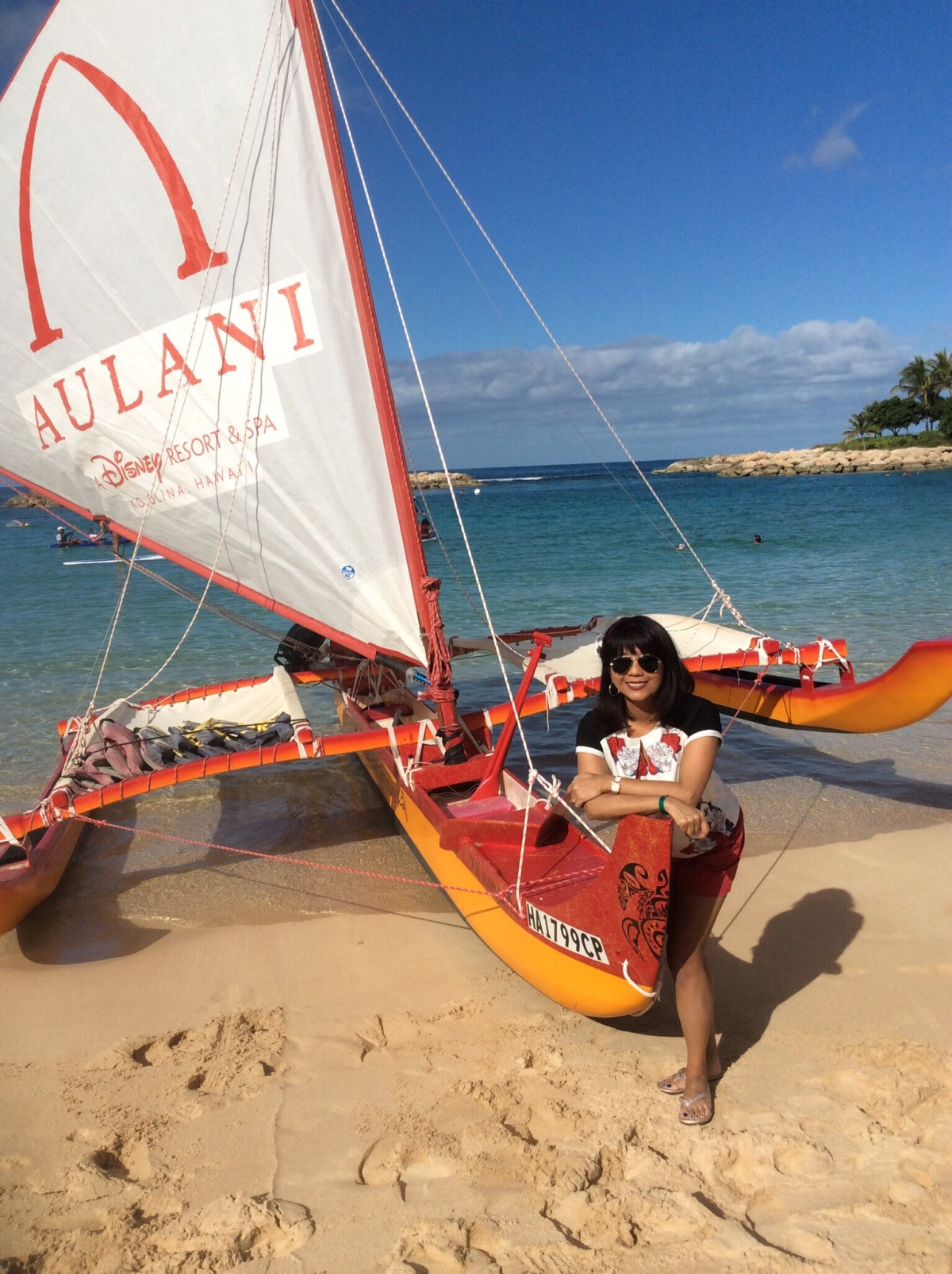 Hanging loose at Disney Aulani Resort, Ko Olina, Hawaii