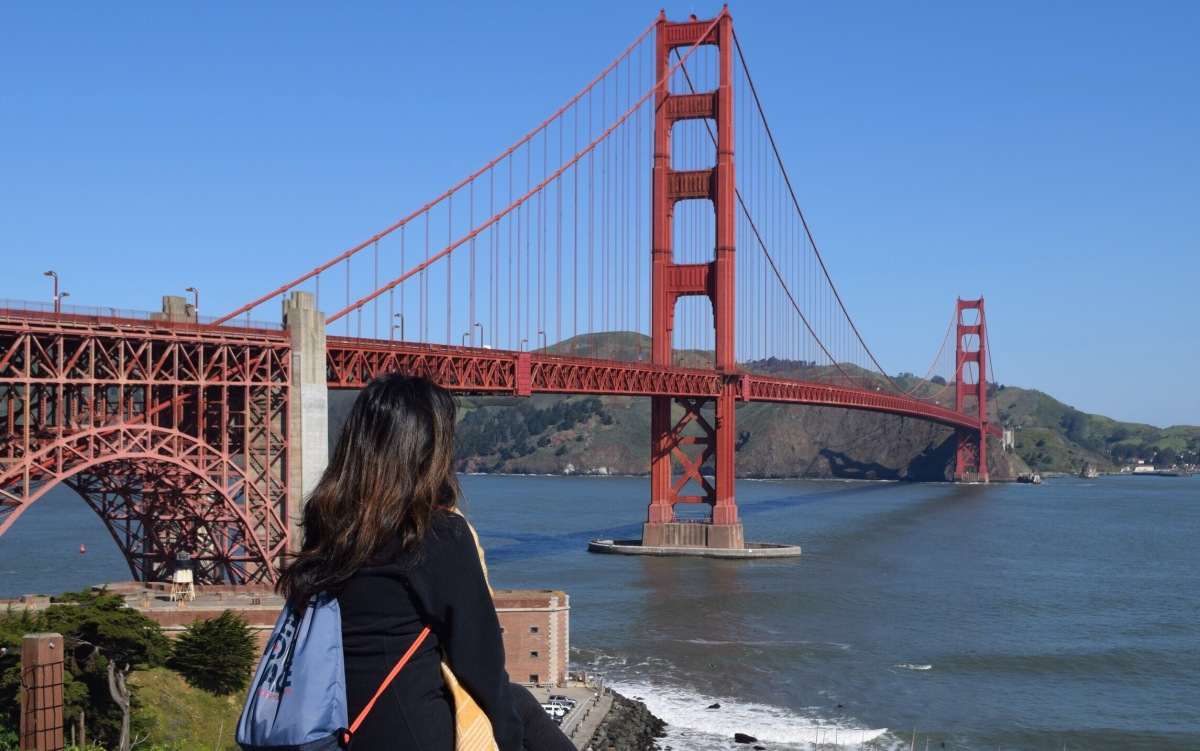 Upclose and personal with San Francisco's Golden GateBridge
